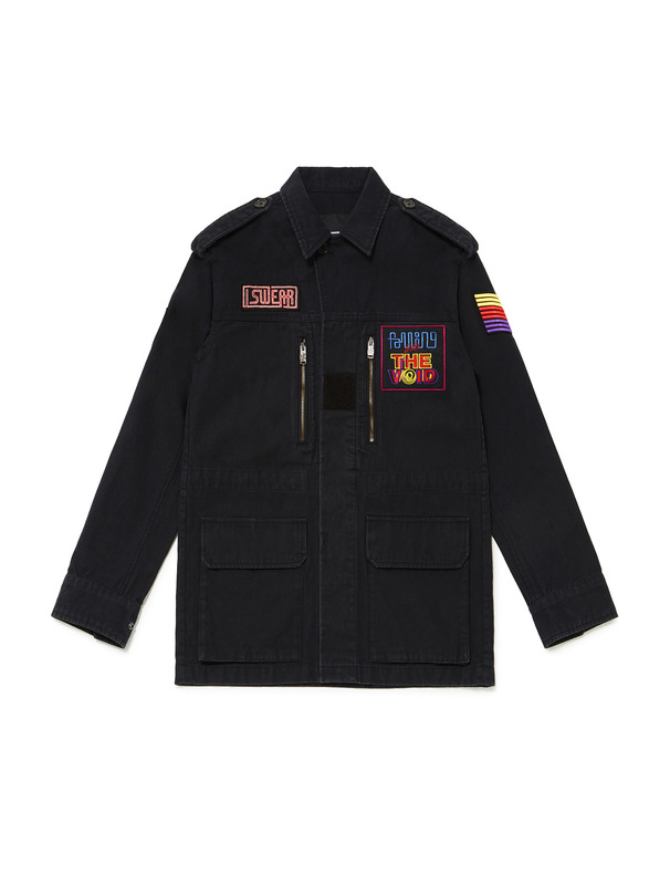 [NONA9ON] EMBROIDERY PATCH OXFORD JACKET