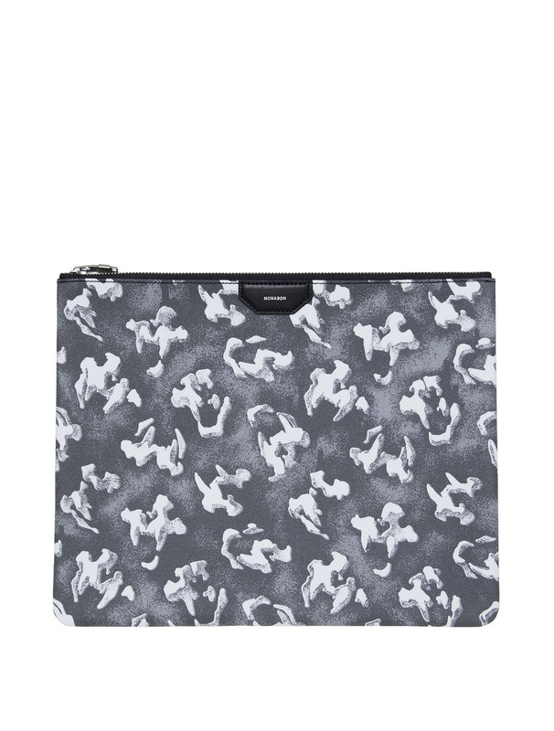 [NONA9ON] TIGER SKULL MONOGRAM CLUTCH