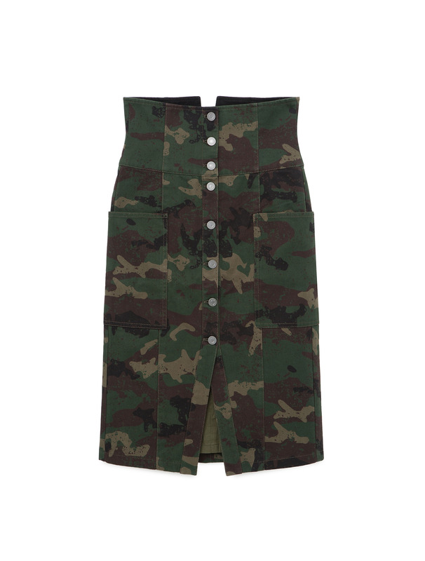 [NONA9ON] HIGH WAIST BUTTON-DOWN SKIRT