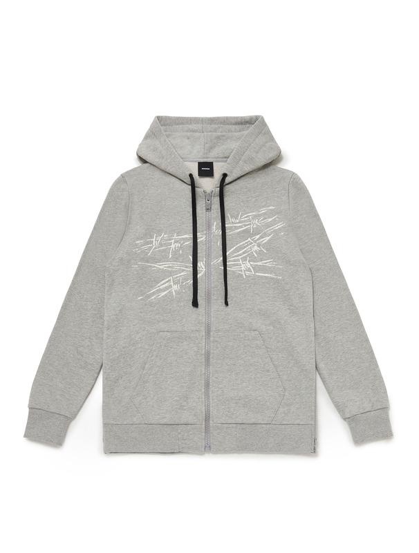[NONA9ON] BARBWIRE ROMAN 9 ZIP-UP HOODIE