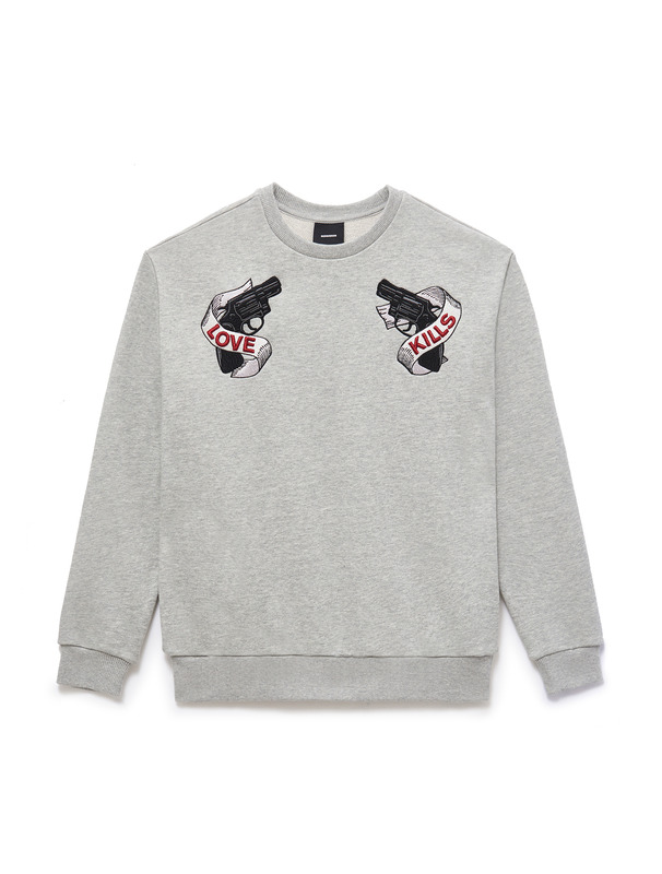 [NONA9ON] PISTOL EMBROIDERED SWEATSHIRT