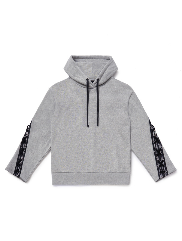 [NONAGON] BARBWIRE TAPE LACE-UP HOODIE