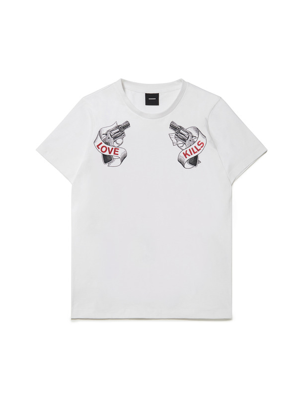 [NONAGON] PISTOL GRAPHIC T-SHIRT