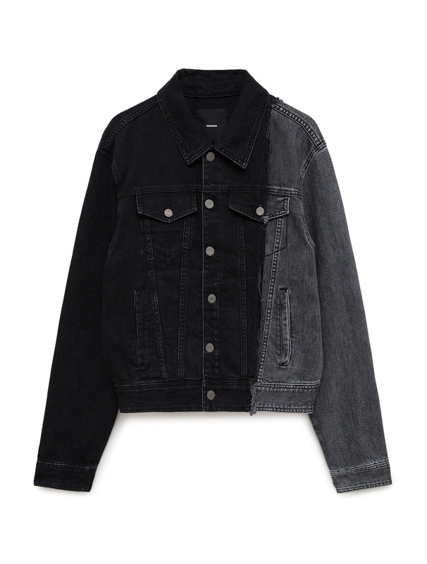 [NONA9ON] CONTRAST-PANELLED DENIM JACKET