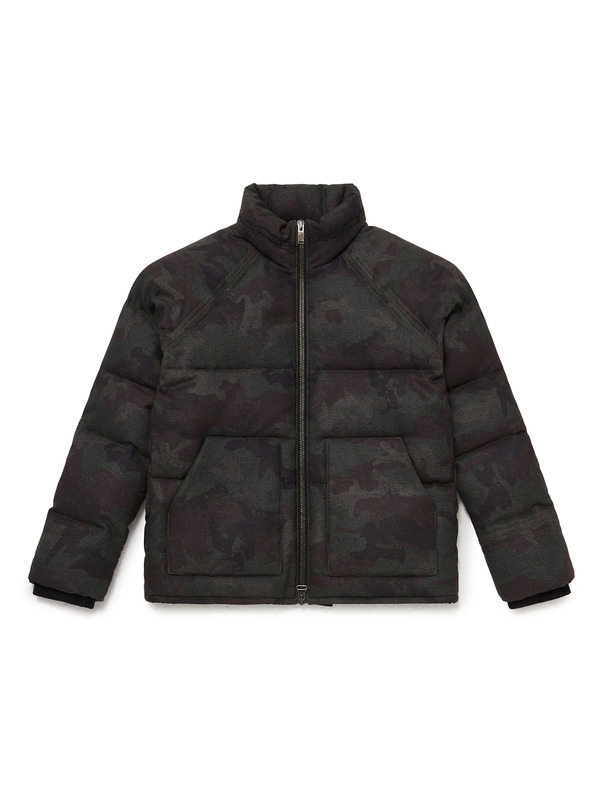 [NONA9ON] BARBWIRE EMBROIDERED DOWN JACKET