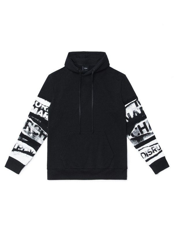 [NONAGON] LETTERING GRAPHIC HOODIE