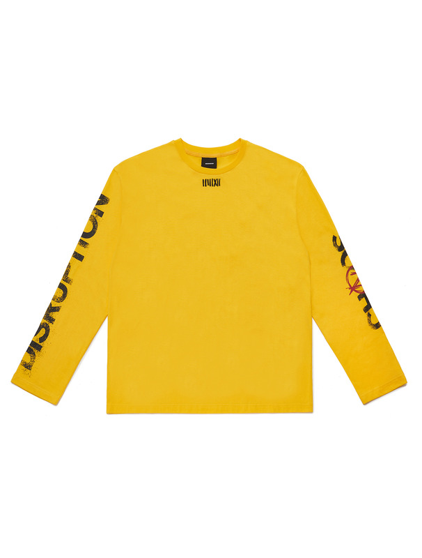 "[NONAGON] ""CHAOS"" GRAPHIC LONG SLEEVE T-SHIRT"