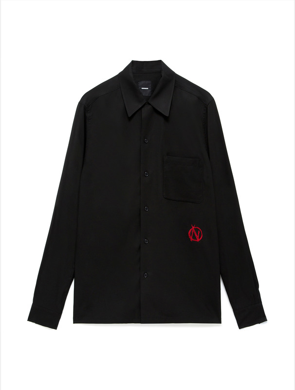 [NONA9ON] BARBWIRE TIGER EMBROIDERED SHIRT