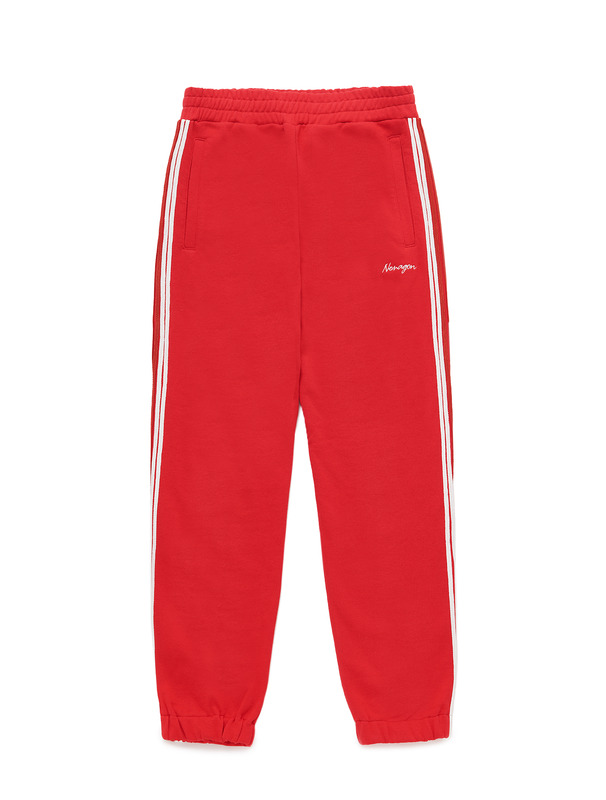 [NONAGON] STRIPED TAPE SWEATPANTS