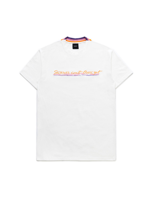 [NONAGON] SUMMER ISN'T OVER YET EMBROIDERY T-SHIRT