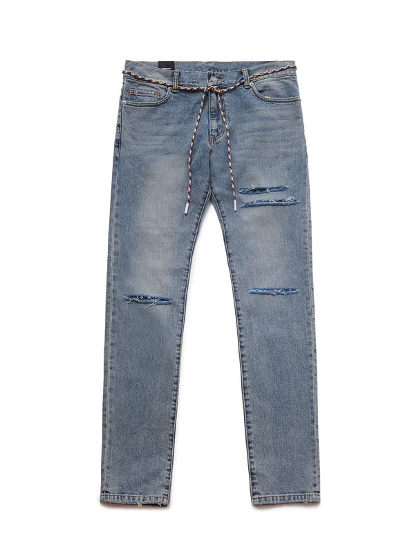 [NONAGON] CHECKERBOARD ROMAN 9 DESTROYED JEANS