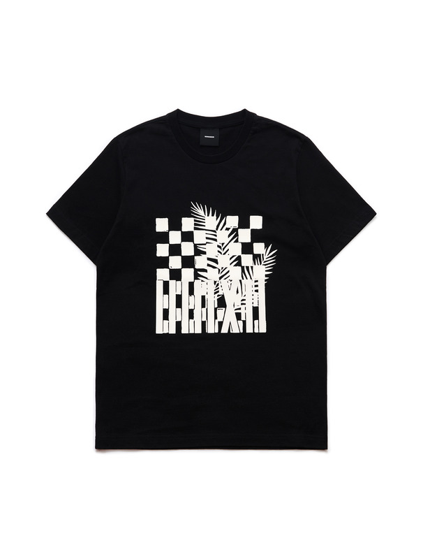 [NONAGON] CHECKERBOARD GRAPHIC T-SHIRT