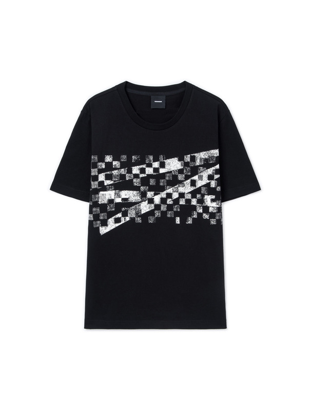 [NONAGON] CHECKERBOARD ROMAN 9 T-SHIRT