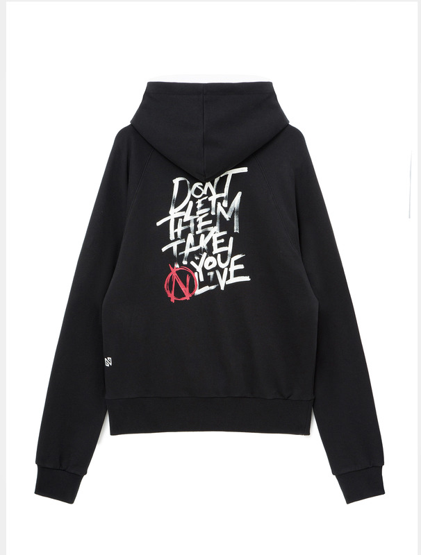 "[NONAGON] ""N LIVE"" GRAPHIC HOODIE"