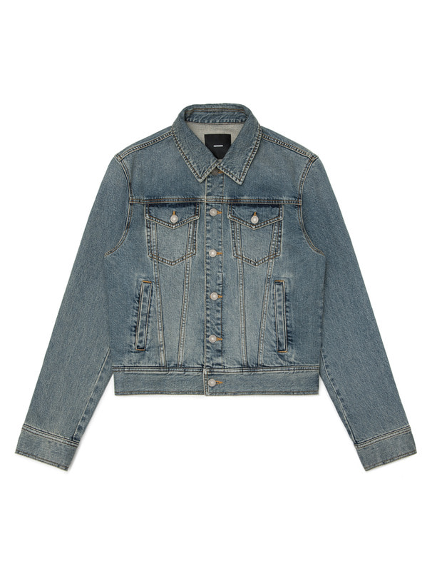 [NONAGON] APPLIQUED DENIM JACKET