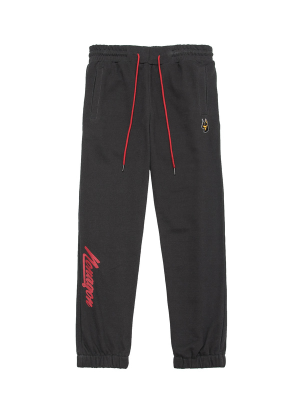 [NONAGON] EMBROIDERED PIGMENT WASHED SWEATPANTS