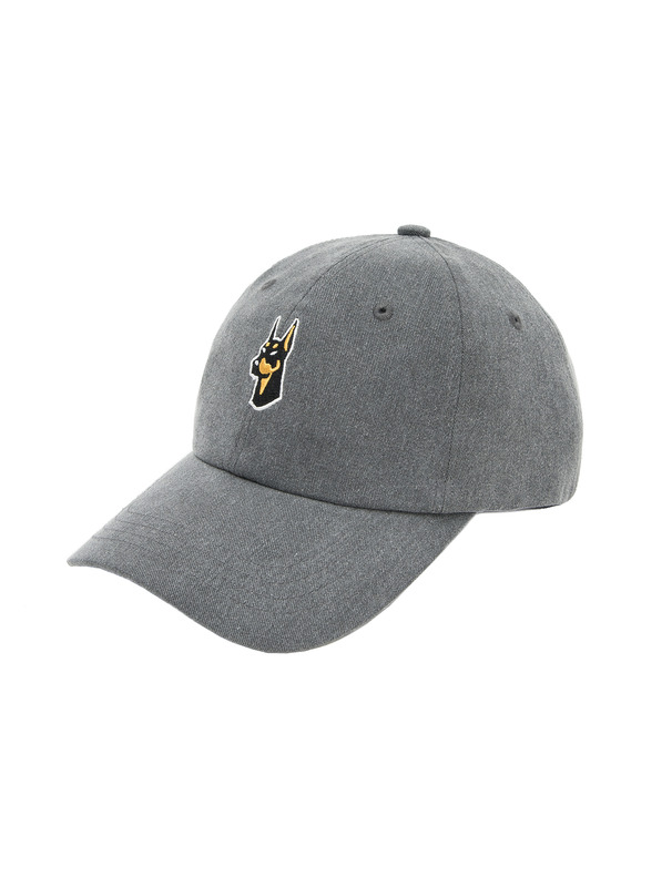[NONAGON] EMBROIDERED PIGMENT WASHED COTTON BALLCAP