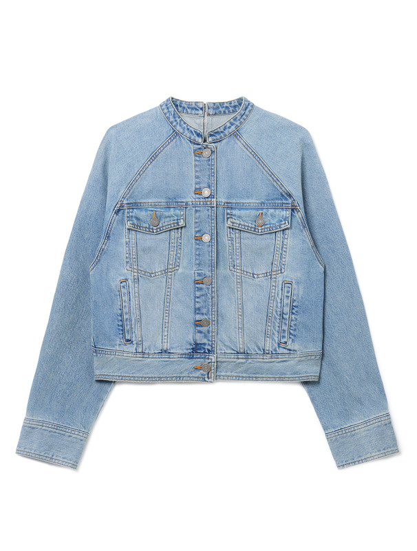[NONA9ON] STRING ZIP DENIM JACKET