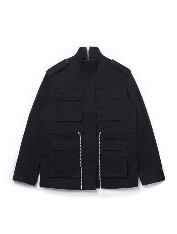 [NONA9ON] STRING ZIP FIELD JACKET