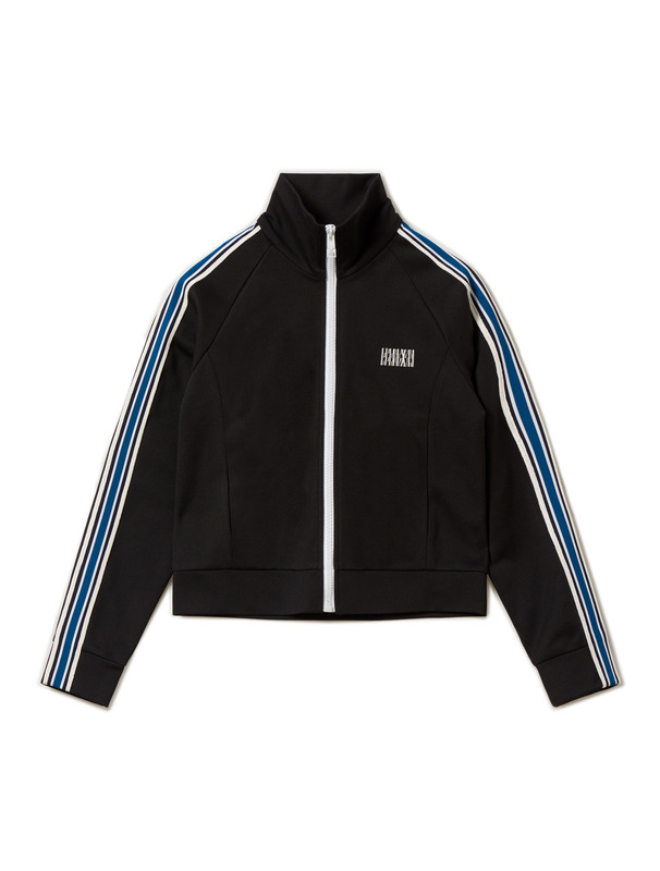 [NONA9ON] STRIPE TAPED TRACK JACKET