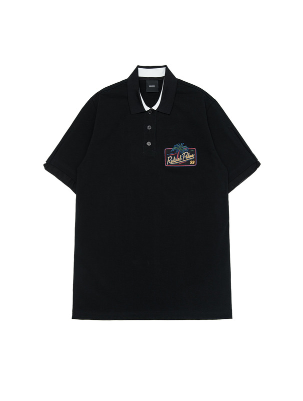 [NONAGON] APPLIQUE POLO SHIRT