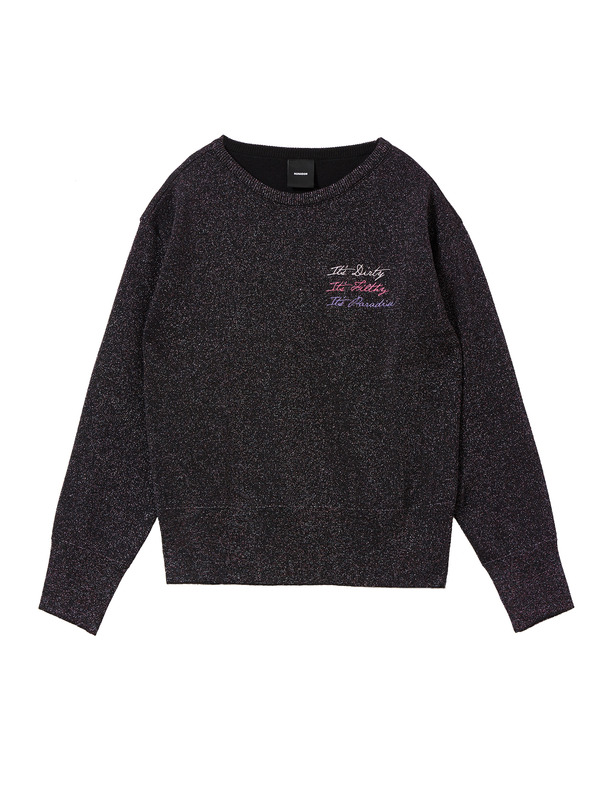 [NONAGON] METALLIC KNIT PULLOVER