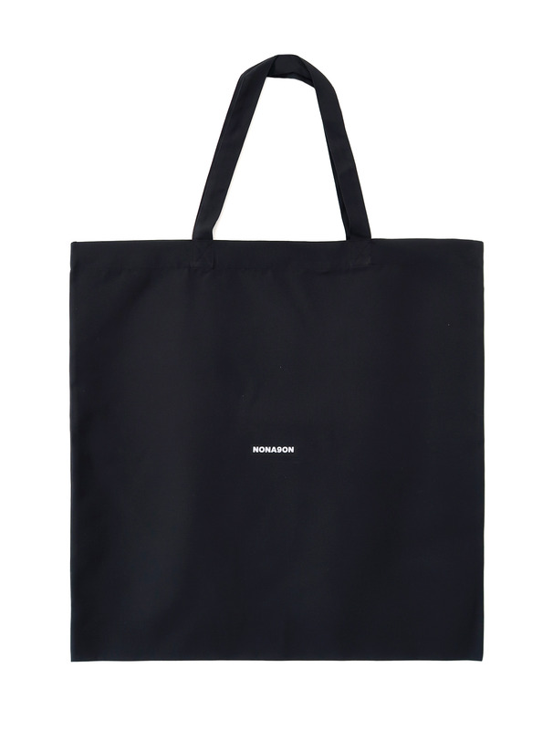[NONAGON] NONAGON BLACK ECO BAG (L)
