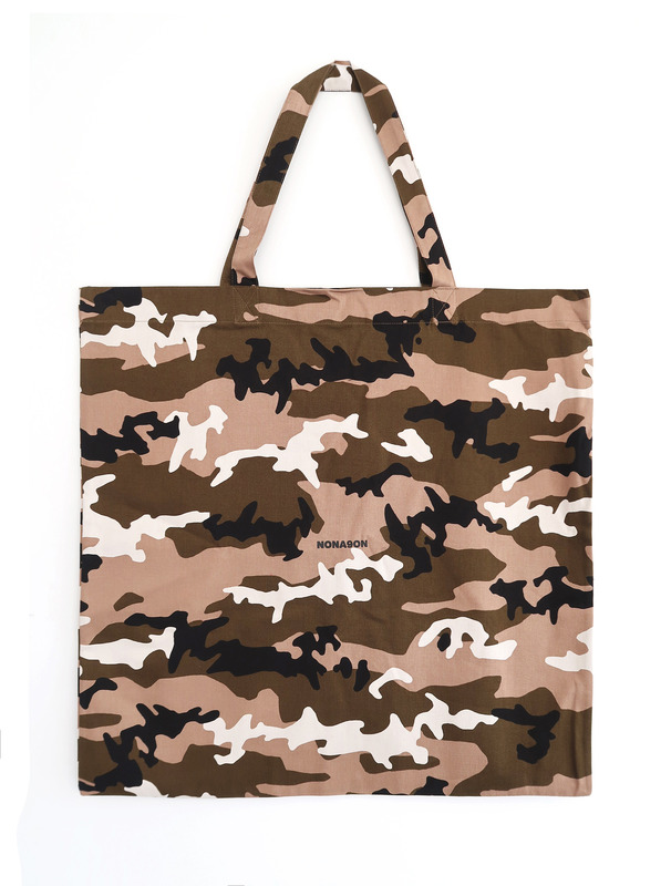 [NONAGON] NONAGON CAMO ECO BAG (L)