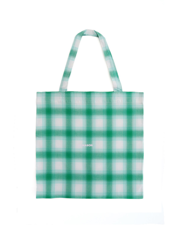 [NONAGON] NONAGON  PLAID ECO BAG (M)