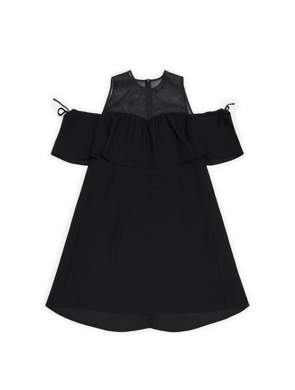 [NONAGON] BLACK SHEER DRESS