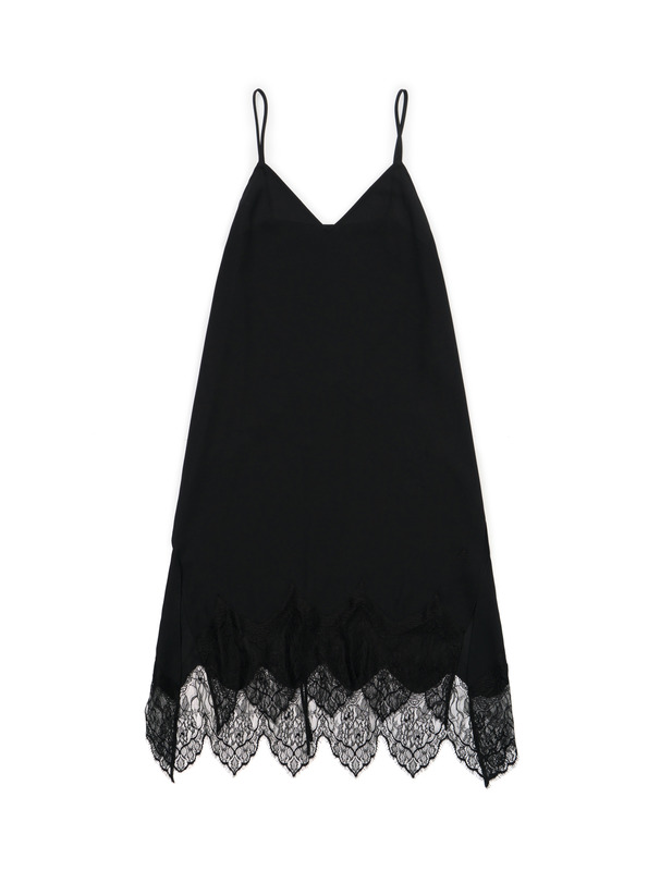 [NONAGON] LACE SLIP DRESS