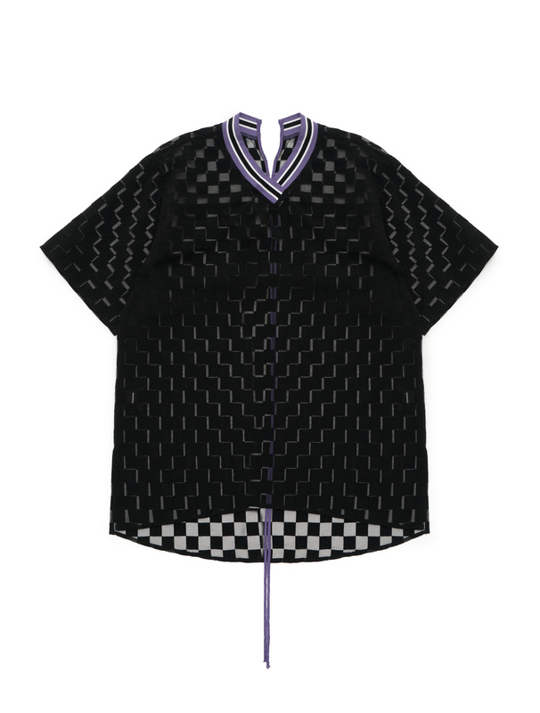 [NONAGON] SHEER CHECKBOARD TOP