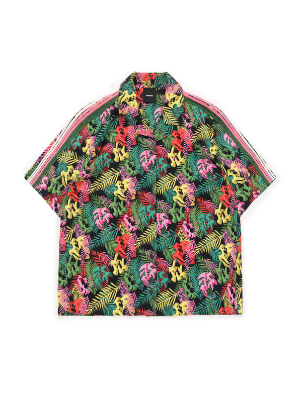 [NONAGON] HAWAIIAN TIGER SKULL SHIRT