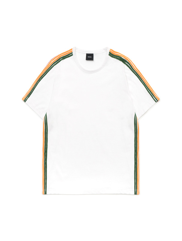 [NONAGON] STRIPE TAPED T-SHIRT