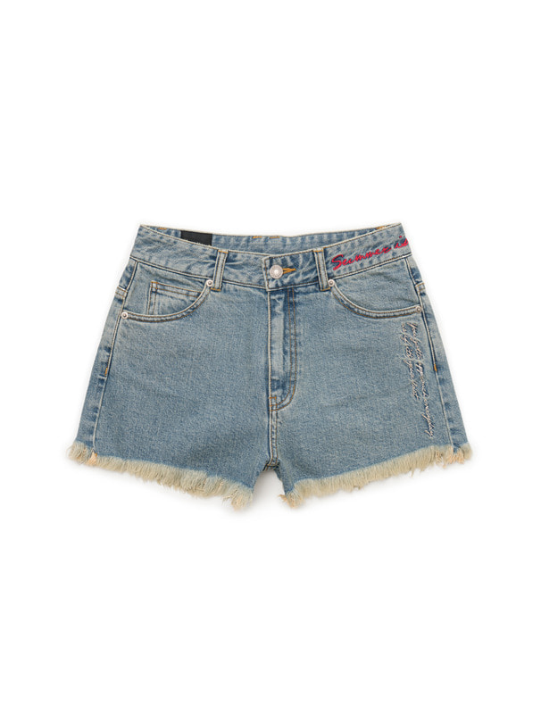 [NONAGON] EMBROIDERY SHORTS