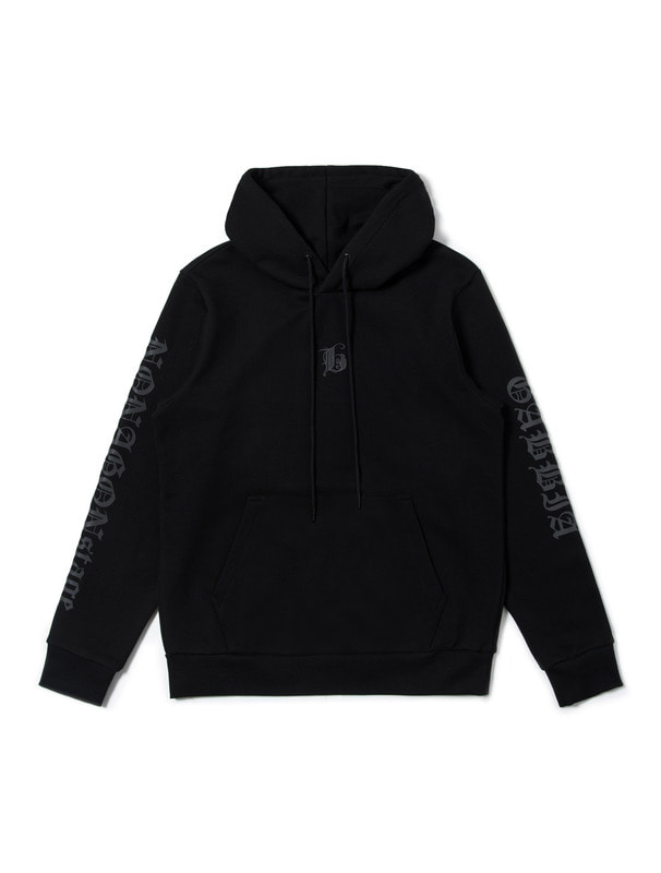 [nonagonstage] REFLECTIVE LETTERING HOODIE