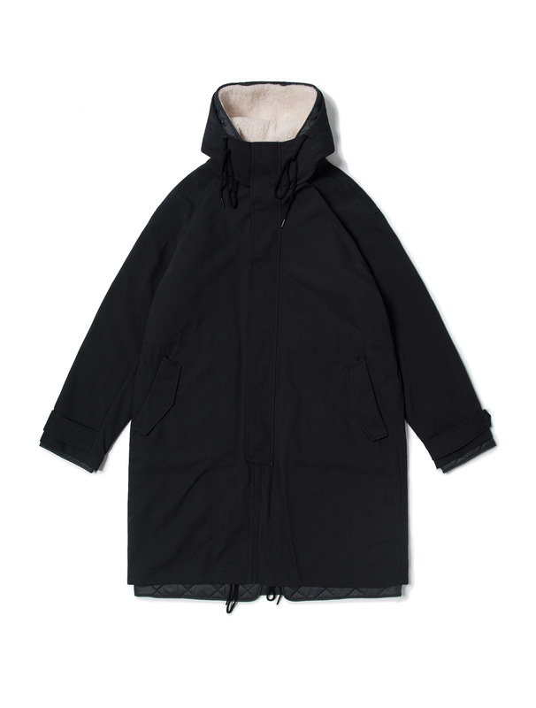 [NONAGON] SHEARING HOODED LINER PARKA