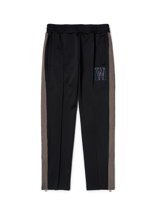 [NONAGON] EMBROIDERED TRACK PANTS