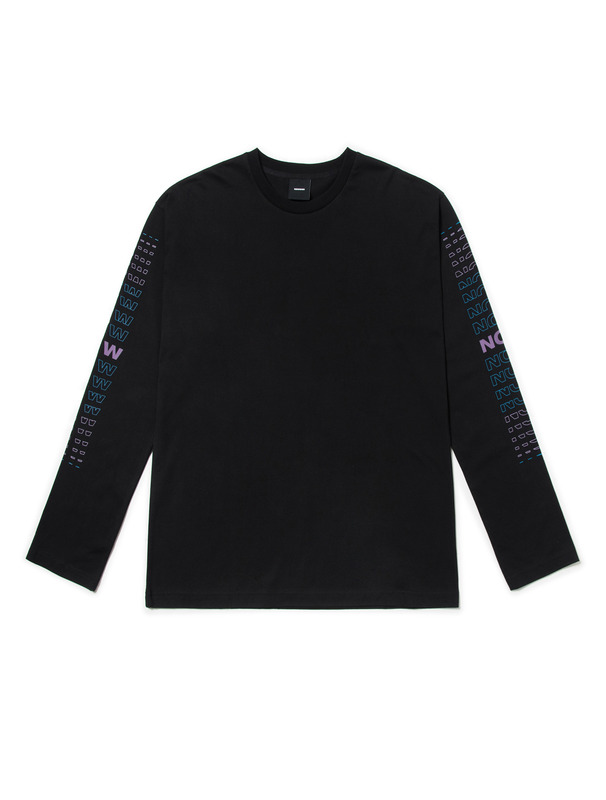 "[NONAGON] ""NOW&NEW""LONG SLEEVE T-SHIRT"