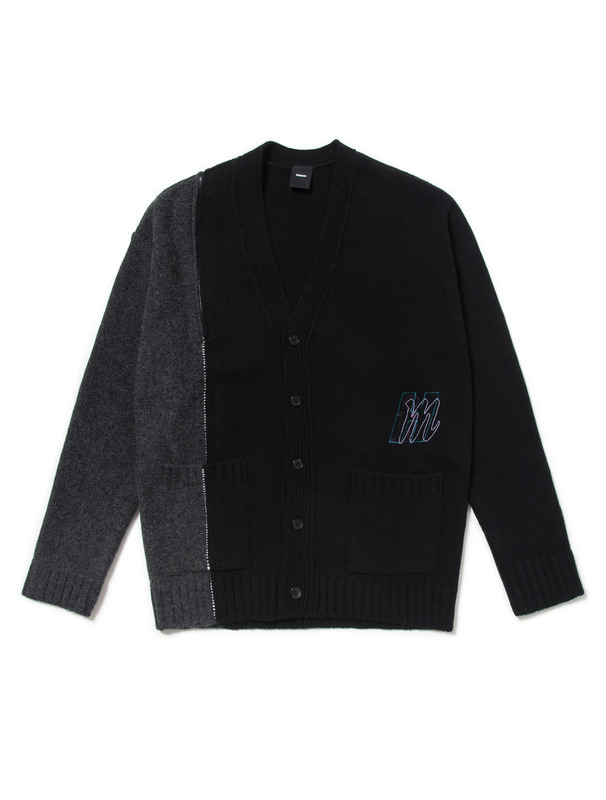 [NONAGON] OPEN SHOULDER KNIT CARDIGAN
