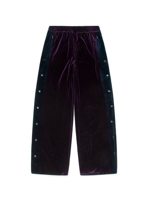 [NONAGON] VELVET WIDE PANTS