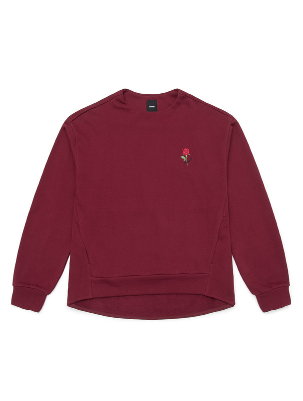 [NONAGON] MOD ROSE EMBROIDERY PULLOVER