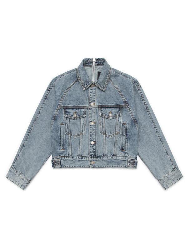 [NONAGON] STRING ZIP DENIM JACKET