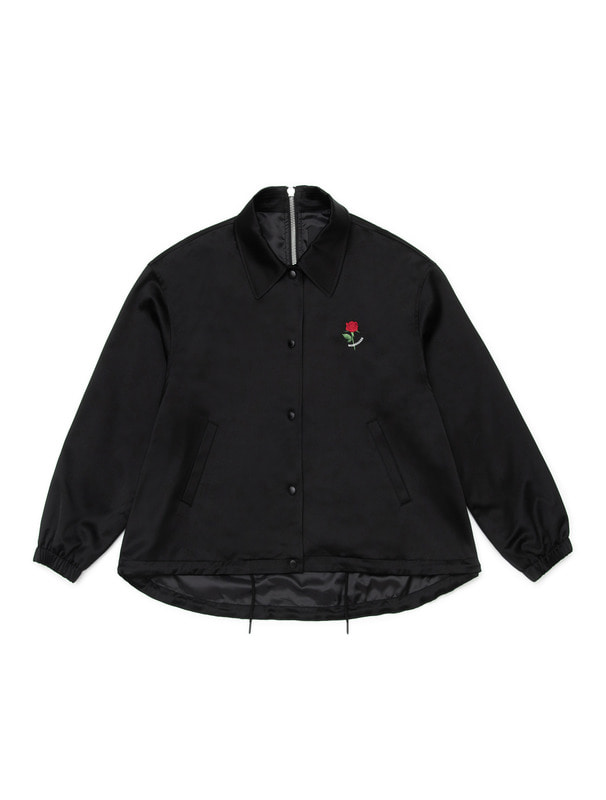 [NONAGON] MOD ROSE EMBROIDERY COACH JACKET