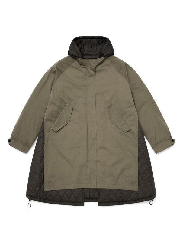 [NONAGON] A-LINE HOODED LINER PARKA