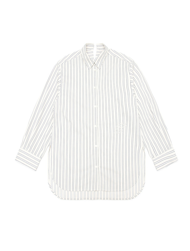 [NONAGON] STRIPE BOXY SHIRTS