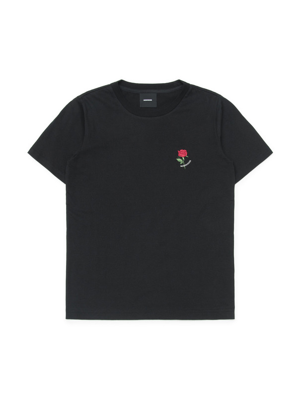 [NONAGON] MOD ROSE EMBROIDERY T-SHIRT