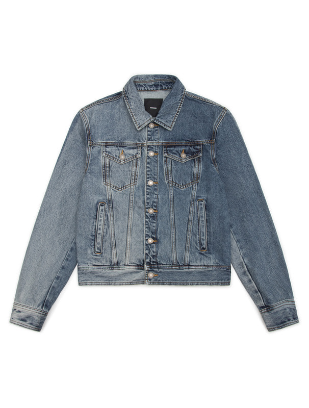 [NONAGON] CONTRASTED TWO-TONE DENIM JACKET