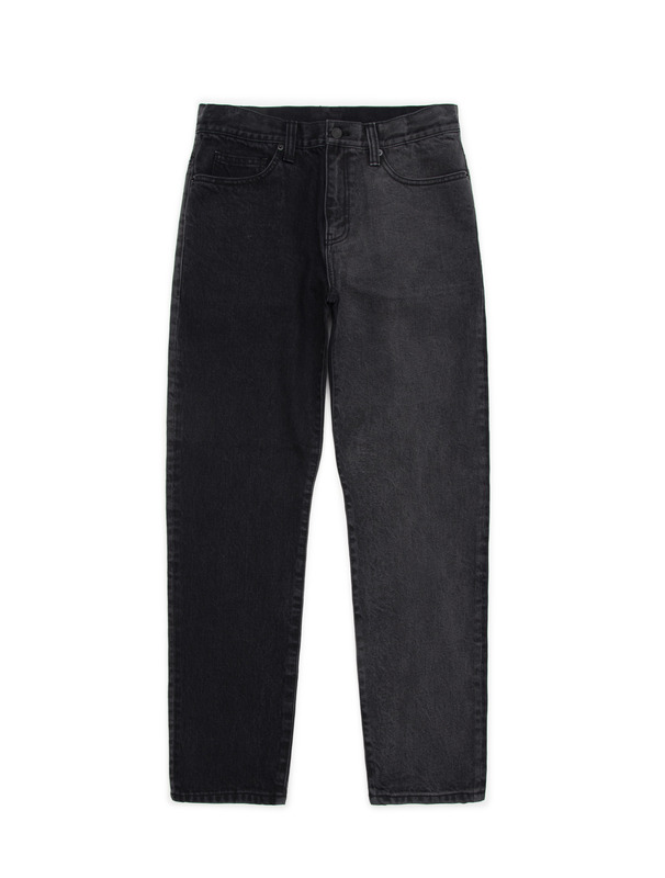 [NONAGON] CONTRASTED TWO-TONE JEANS