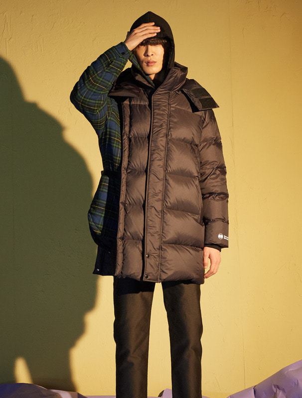 [NONAGON] DETACHABLE ARM LONG DOWN JACKET